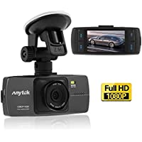 Anytek A88 Car Camera Dash Cam,Dashboard Video DVR Recorder with 2.7 Inch 1080P Full HD TFT Display,140 Degrees High Resolution Wide Angle Prime Len