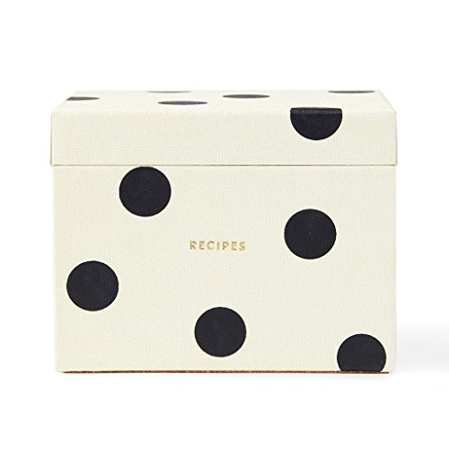 Kate Spade New York Recipe Box, Deco Dot, , (Dot Box)
