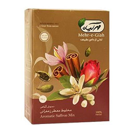 (Premium Saffron Aromatic Tea, Loose Leaf Tea, Natural Ingredients, Sugar-Free 75)