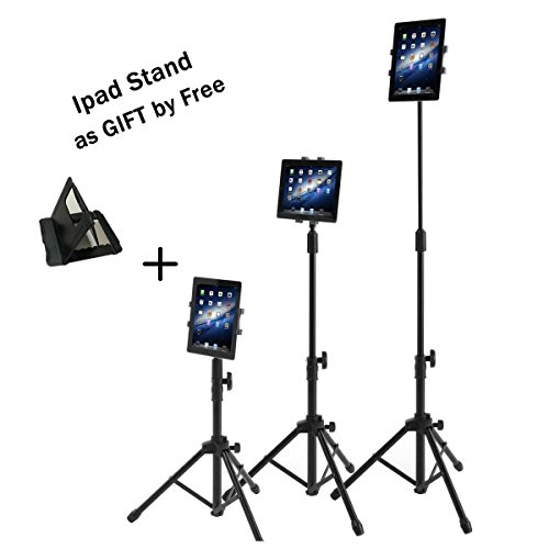Ipad Tripod Mount Floor Stand, Weiyudang Height Adjustable 20 to 60 Inch Tablet Tripod Stand Mount for Ipad,Ipad Mini and Others Within 7-10 Inch, Carrying Case Includeed (Classic Tripod)