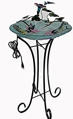 Continental Art Center Metal Butterfly and Flower Fountain, 18 by 9 by 7-Inch