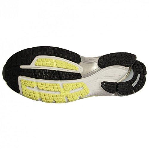 Adidas Supernova Sequence 6 zapatos corrientes de tamaño 5 Glow/Running White/Metallic Silver