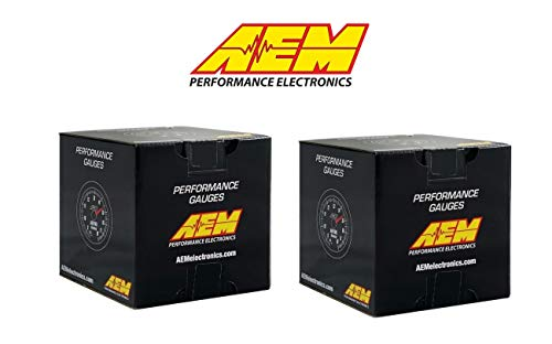 AEM Electronics 2 Gauges Combo Set 52mm Voltmeter Digital Gauge + UEGO WideBand 4.9LSU Air/Fuel ratio
