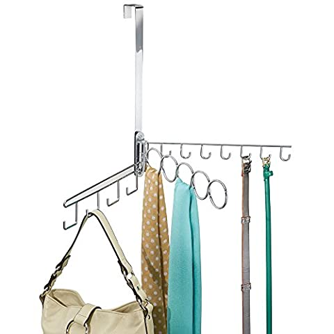 mDesign Over the Door Swinging Closet Organizer
