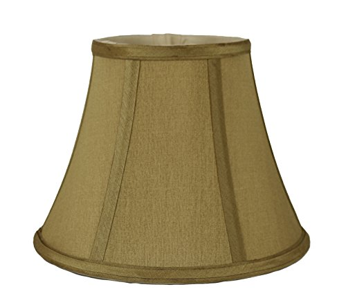 (Urbanest Softback Bell Lampshade, Faux Silk, 5-inch by 9-inch by 7-inch, Gold, Spider-Fitter)