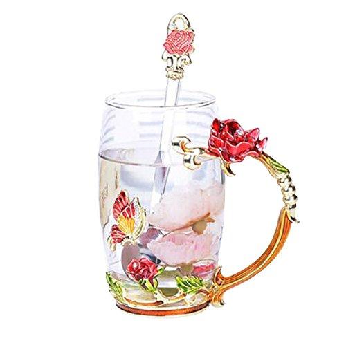 Red Flower Mug - 5