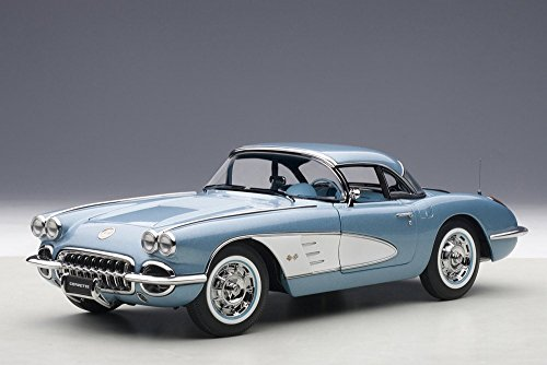 1958 Chevy Corvette, Blue - AutoArt 71146 - 1/18 Scale Collectible Diecast Vehicle Replica