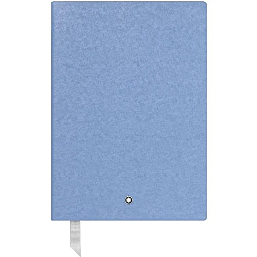 Mont Blanc Diaries - Montblanc Fine Stationary Unisex 146 Light Blue Lined Leather Notebook Accessories 116517