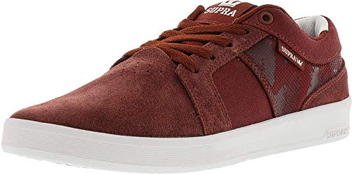 - Supra Mens Ineto Canvas Low Top Lace Up Skateboarding, Brick White, Size 10.0