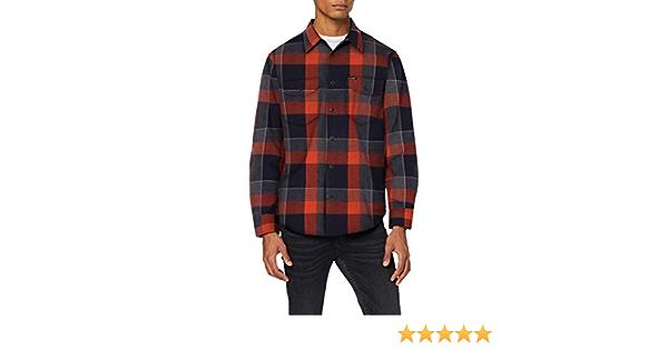 Lee Worker Shirt camisa, Burnt OCRA, L para Hombre