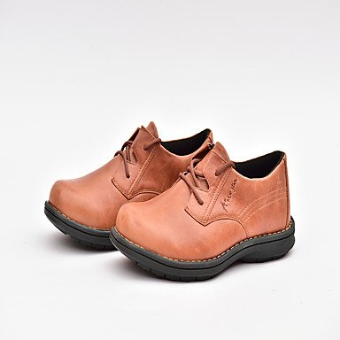 Men's Oxfords Spring Summer Fall Winter Comfort Nappa Leather Outdoor Office & Career Casual Lace-up Split Joint Coffee Walking,Coffee,US7 / EU39 / UK6 / CN39 by CLG-FLY