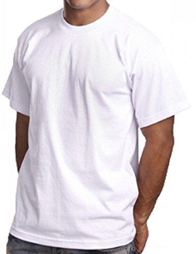 3 Pack White Men's Plain T shirts PRO 5 Athletic Blank Tees Urban Wear (3XL - 3X - XXXL)
