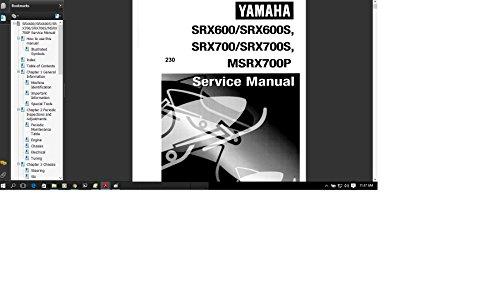 Yamaha SRX MSRX 600 700 Snowmobile 1998 1999 Service Manual Library ()