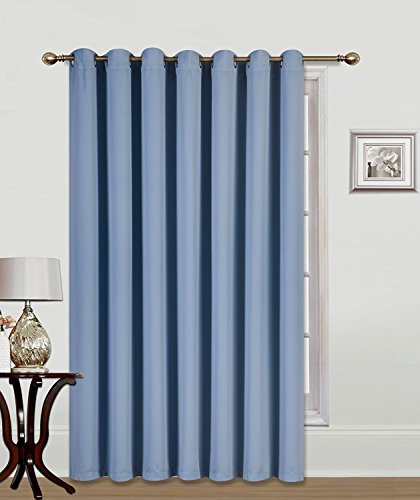 (CD)1 Privacy Room Divider Solid Grommet Top Heavy Thick Thermal Drape Curtain Panel, 100