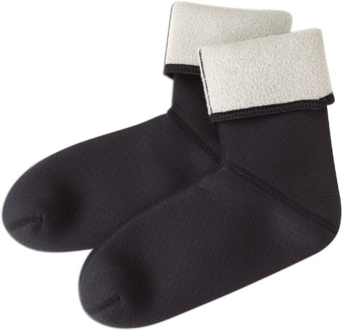 Caddis Black Fleece Lined Neoprene Socks, Large (Fleece Sock)