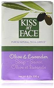 Kiss My Face Moisturizing Bar Soap for All Skin Types - Olive & Lavender - 8 oz