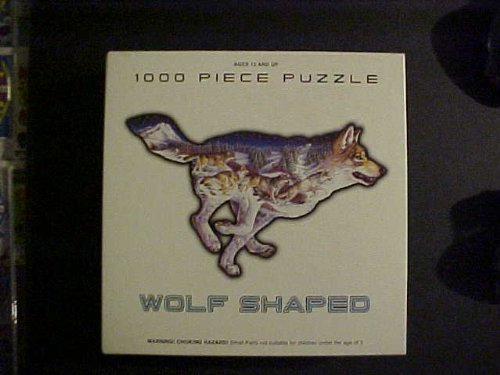 FX Schmid 1000 Piece Puzzle Pack Leader Wolf Shaped Puzzle