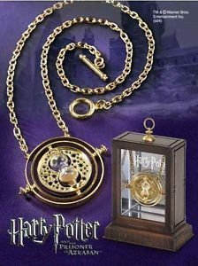 Harry Potter Time Turner Necklace Hermione Granger Rotating Spins Gold Hourglass by Unknown (Image #1)