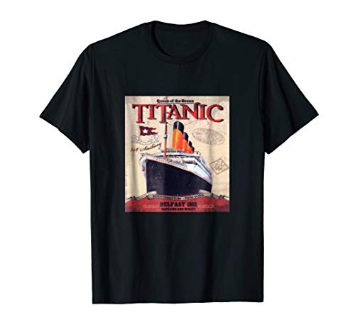 Ship Titanic Aged Disaster Historic Treasured Vintage tee