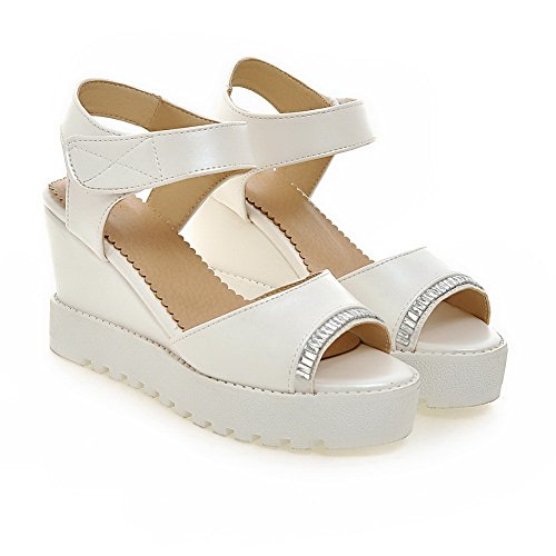 AN Womens Non-Marking Cold Lining Dress Urethane Platforms Sandals DIU00944 White uB2Q3IF