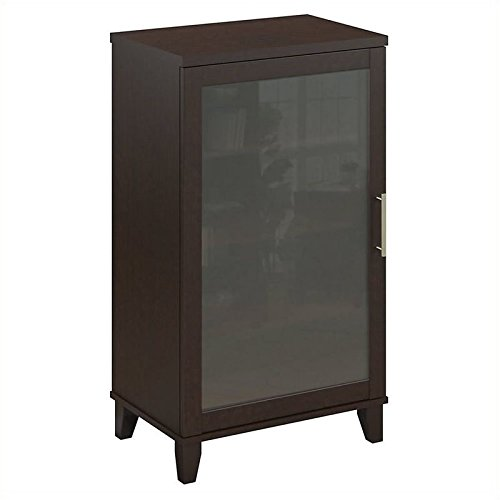 Pemberly Row Audio Cabinet or Bookcase in Mocha ()