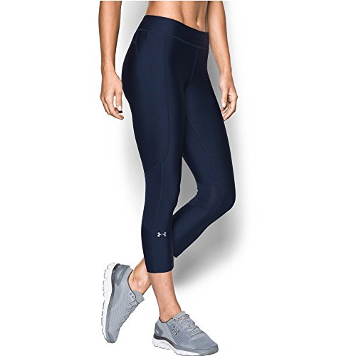 Under Armour Women's HeatGear Armour Crop,Midnight Navy /Met