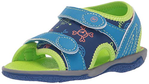 Stride Rite Boys' Everett Fisherman Sandal Cobalt/Multi 7 M US Toddler