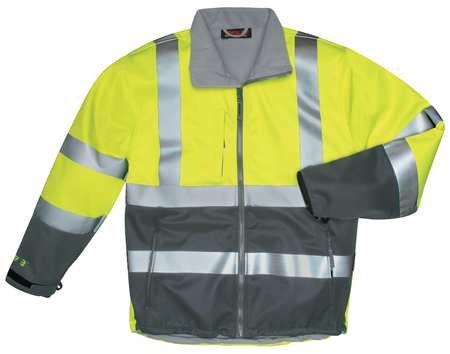 Breathable Rain Jacket, Hi-Vis Ylw/Grn, L by TINGLEY