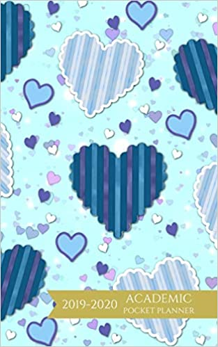 12 Month Calendar 2014-2020 Amazon.com: Academic Pocket Planner 2019 2020: Blue Hearts Weekly