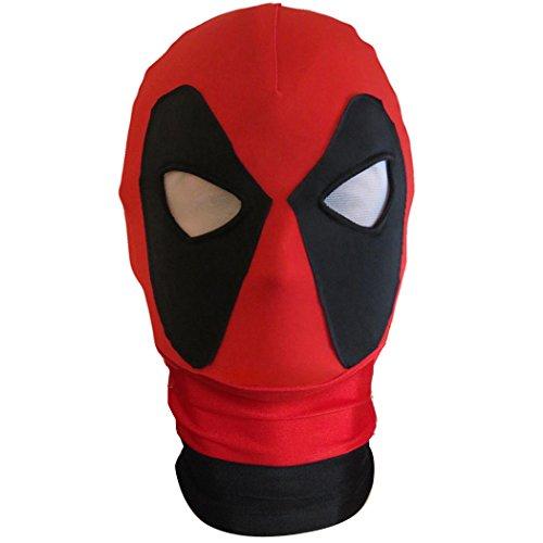 Vineds Unisex Cosplay Costume Superhero Headwear Swimwear Full Face Mask (Adult Size, Black Neck)