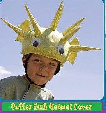 Helmet Headz Mutiple-sport Helmet Covers-Puffer Fish& Jester