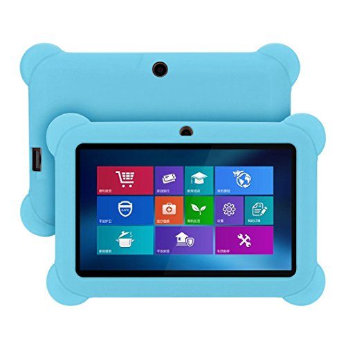 - MChoice Silicone Gel Protective Back Case Cover For 7 Inch Android Tablet Q88 (Sky Blue)