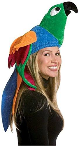 Bird Costume Hat (Adult Parrot Bird Hat Costume Accessory - Tropical Paradise Hat)