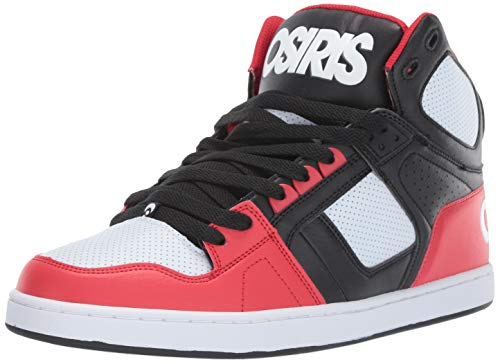 Osiris Men's NYC 83 CLK Skate Shoe Black/red/White 12 M US