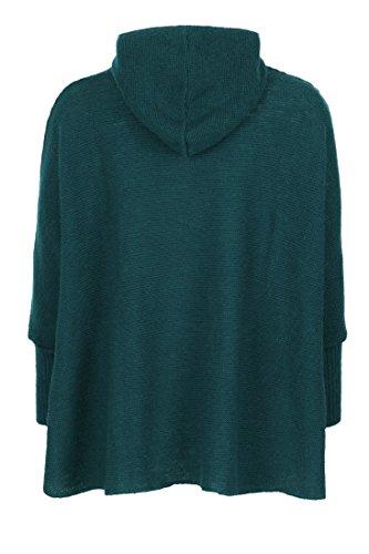 Dames 065 vert Poncho Turquoise Tricot En Kidka nZ7wzxqvC
