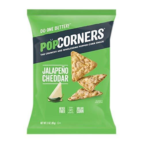 POPCORNERS Jalapeno Cheddar, Popped Corn Snacks, 3oz (Pack of 12) (Popcorner Jalapeno)