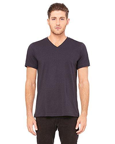 Bella Canvas Taped Shoulders Ring spun T-Shirt, Dark Grey, Large