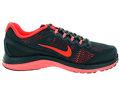 Nike Wmns Dual Fusion Run 3 - Zapatillas de running Mujer Gris (Clssc Chrcl / Brght Crmsn-Lv Glw)