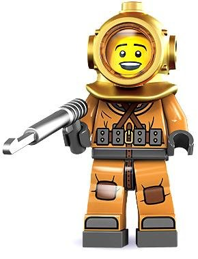 Lego Minifigures Series 8 - SEALED - Diver - UNOPENED ONLY