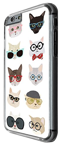 938 - Cool cute fun cats kittens nerd sunglasses glasses bow tie pets feline love Design For iphone 5C Fashion Trend CASE Back COVER Plastic&Thin Metal -Clear