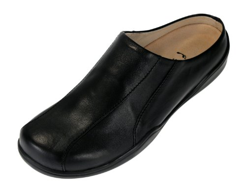 Footprints by Birkenstock Trieste Leather Clog Leather Black OuIv7VZj