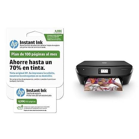 HP Envy Photo 6230 – Impresora multifunción inalámbrica, color negro + HP Instant Ink - Tarjeta de 100 páginas