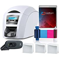 Magicard Enduro 3e Dual Sided ID Card Printer & Complete Supplies Package with badgeDesigner ID Software