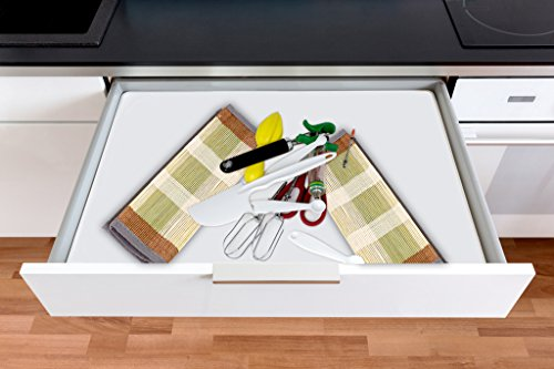 Chef Essential Bamboo Utility Drawer Organizer, Kitchen Silverware tray, 5-Compartment, Your Drawer Will Look Super Neat with This Bamboo Divider, Great Gift Idea for Your Loved One. by Chef Essential (Image #1)
