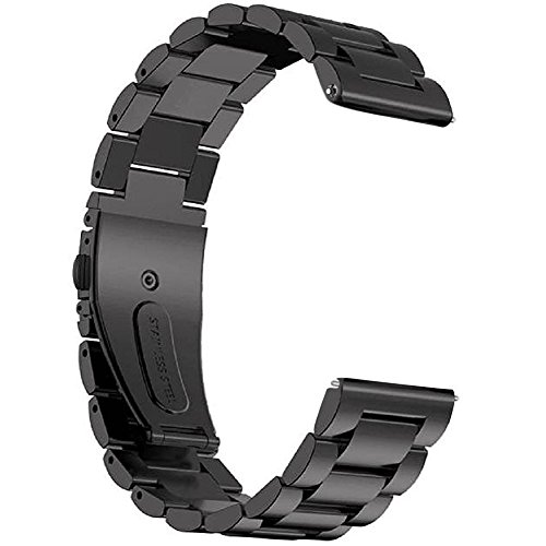 Gear S3 Frontier / Classic Watch Band, 22mm Solid Stainless Steel Metal Business Replacement Bracelet Strap for Samsung Gear S3 Frontier / S3 Classic Sports Smart Watch Fitness (Metal (022 Watch)