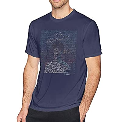 Aergaerg387 Middle DJ Snake Mens T-Shirt for Teenager Navy S