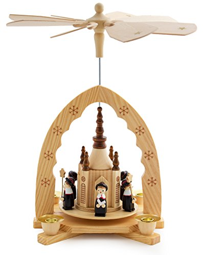 BRUBAKER Christmas Decoration Pyramid 12 Inches Nativity Play - Christmas Scene with Handpainted Figures - Limited Edition 500 Pieces Only - Including 20 Candles (Made in Germany) by BRUBAKER
