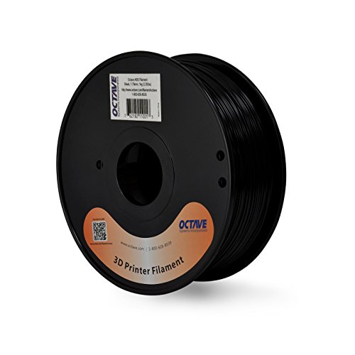 Octave Black ABS Filament for 3D Printers - 1.75mm 1kg Spool - Octave Range