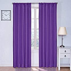 Eclipse 10707042X063PUR Kendall 42-Inch by 63-Inch Thermaback Blackout Single Panel, Purple