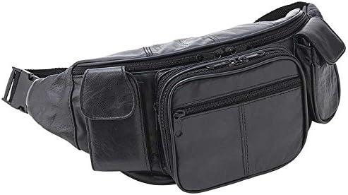 EmbassyTM Large Genuine Leather Waist Bag - Style LUWAISTL by Embassy: Amazon.es: Hogar